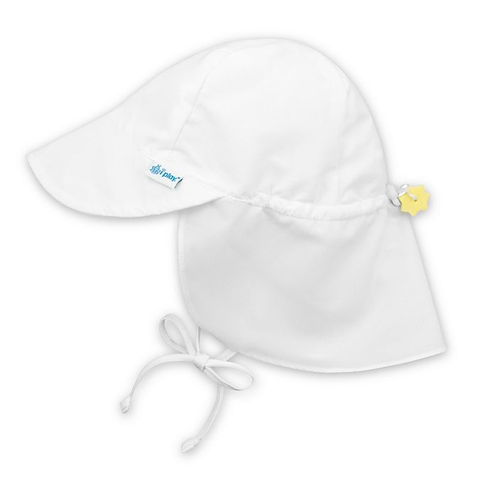 Alternate image 1 for i play.® Toddler Sun Flap Hat in White