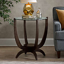 Madison Park Signature Truman Side Table with a Morocco Brown Finish