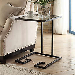 Carolina Cottage Royce Glass Top Side Table