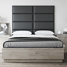 Vant Vinyl Upholstered Headboard Panels in Black Coal