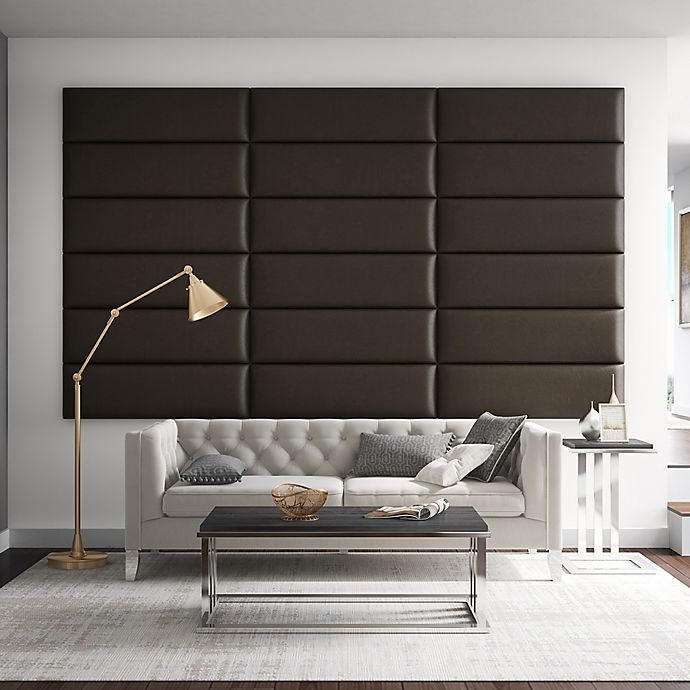 Alternate image 1 for Vant 117-Inch x 69-Inch Vinyl Upholstered Headboard Panels in Saddle Brown