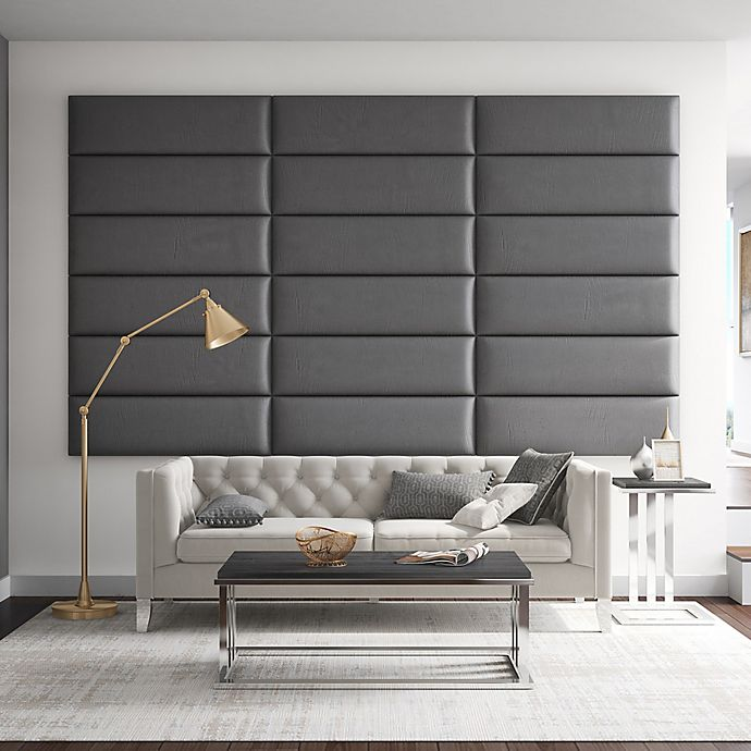 Alternate image 1 for Vant 117-Inch x 69-Inch Vinyl Upholstered Headboard Panels in Grey Pewter