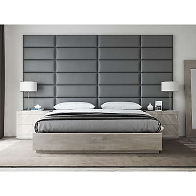 Vant Vinyl Upholstered Headboard Panels in Grey Pewter