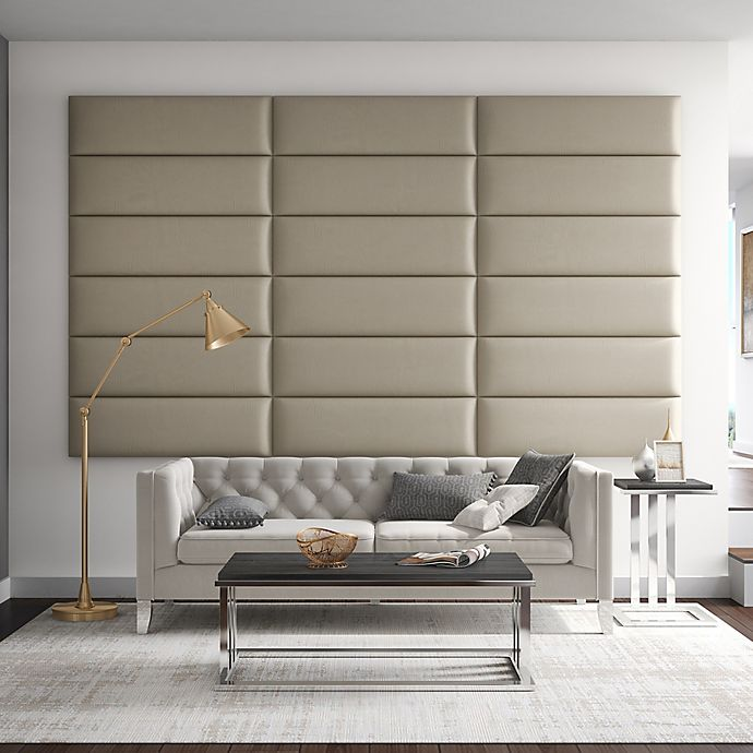 Alternate image 1 for Vant 117-Inch x 69-Inch Vinyl Upholstered Headboard Panels in Dusty Taupe
