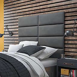 Vant 60-Inch x 46-Inch Micro Suede Upholstered Headboard Panels in Grey