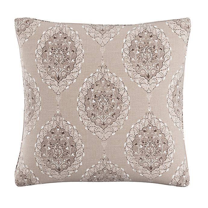 Alternate image 1 for Skyline Furniture Damask Throw Pillow in Taupe