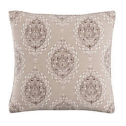 Skyline Furniture Damask Throw Pillow in Taupe