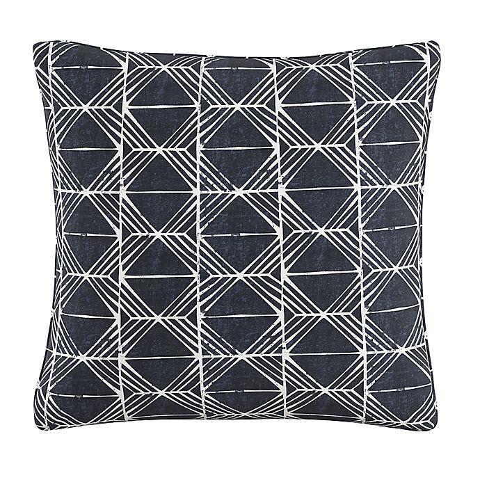 Alternate image 1 for Skyline Furniture Block Print Throw Pillow in Indigo