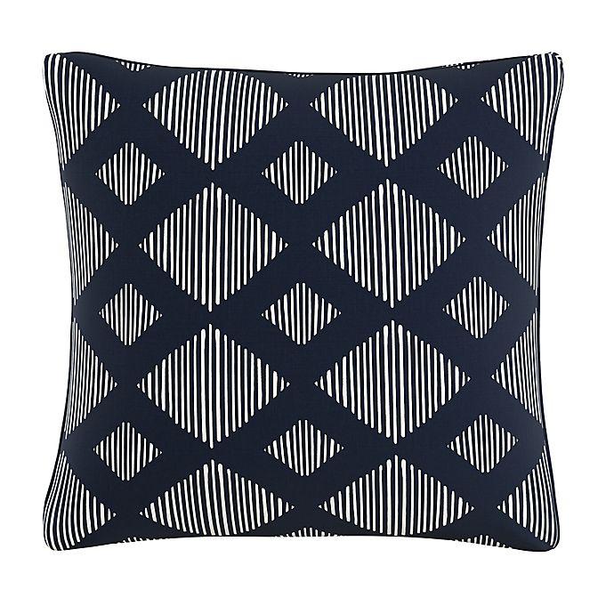 Alternate image 1 for Skyline Furniture Line Lattice Throw Pillow in Indigo