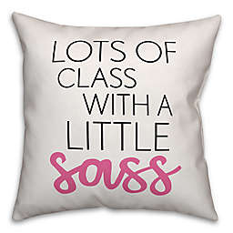 Designs Direct Lots of Class Little Sass Square Throw Pillow in Black/Pink