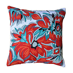 Amity Home Kia Square Throw Pillow in Blue/Red