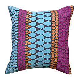 Amity Home Lila Square Throw Pillow in Aqua/Pink