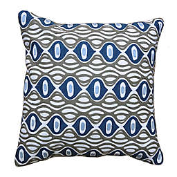 Amity Home Mia Square Throw Pillow in Grey/Blue