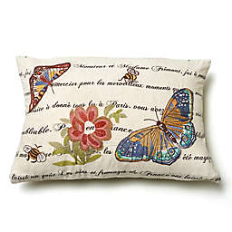 Amity Home Marine Butterfly Square Throw Pillow in Ivory