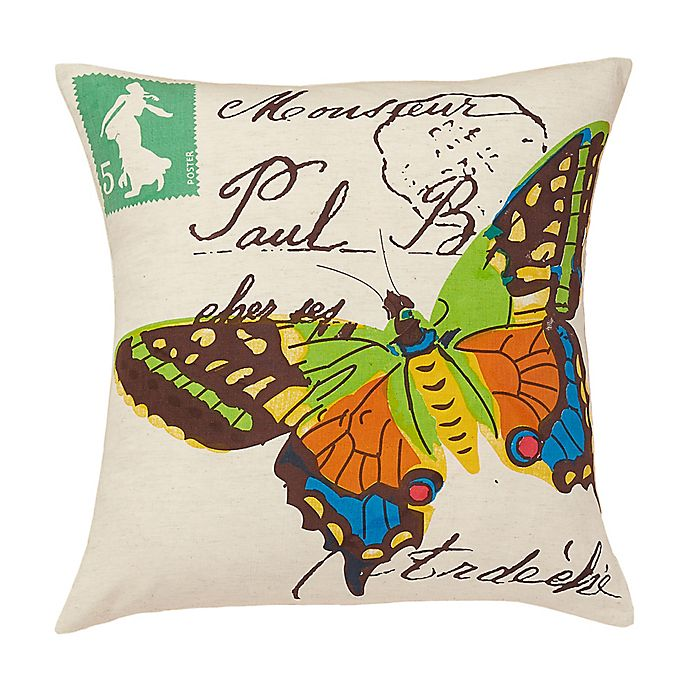 Alternate image 1 for Amity Home Woodland Butterfly Throw Pillow in Ivory