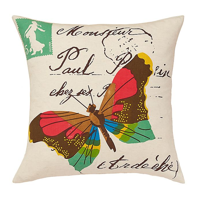 Alternate image 1 for Amity Home Yuma Butterfly Throw Pillow in Ivory