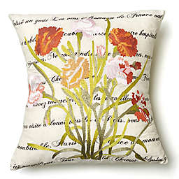 Amity Home Poppy Throw Pillow in Ivory/Green