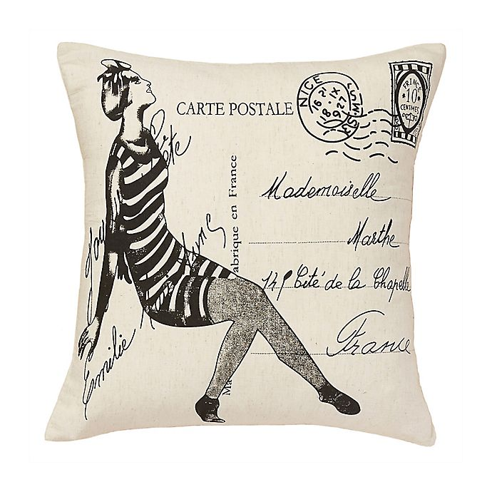 Alternate image 1 for Amity Home Mademoiselle Square Throw Pillow in Ivory