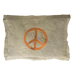 Amity Home Peace Sign Floor Cushion in Khaki