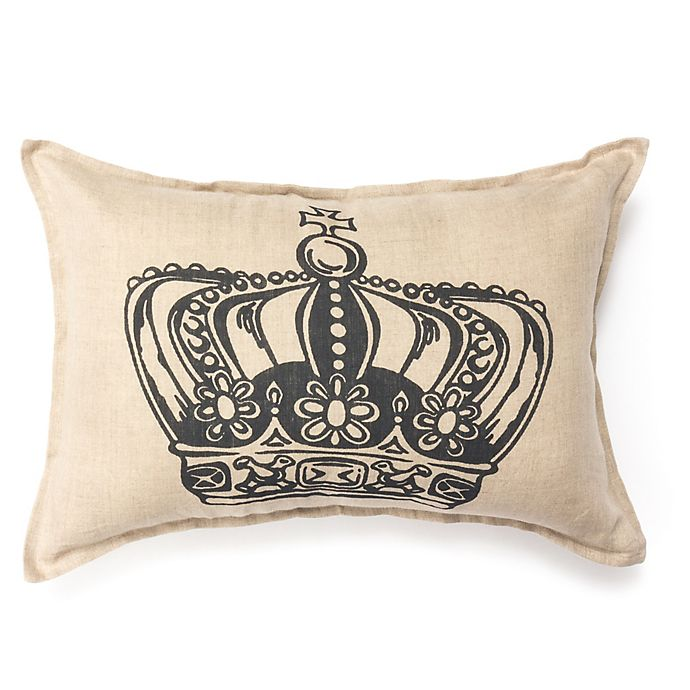 Alternate image 1 for Amity Home King Crown Oblong Throw Pillow in Ivory/Grey