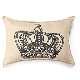 Amity Home King Crown Oblong Throw Pillow in Ivory/Grey