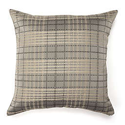 Amity Cube Square Throw Pillow in Grey