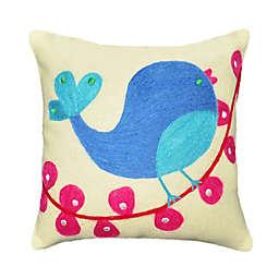 Amity Home Tweety Bird Wool Felt Throw Pillow in Ivory/Multi