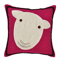 Amity Home Wool Sheep Square Throw Pillow