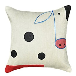 Amity Home Wool Cow Square Throw Pillow