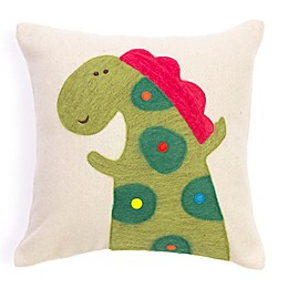 Amity Home Wool Alligator Square Throw Pillow