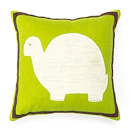 Amity Home Turtle Wool Felt Throw Pillow in Green