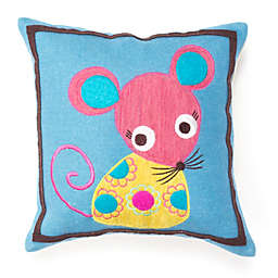 Amity Home Wool Mouse Square Throw Pillow