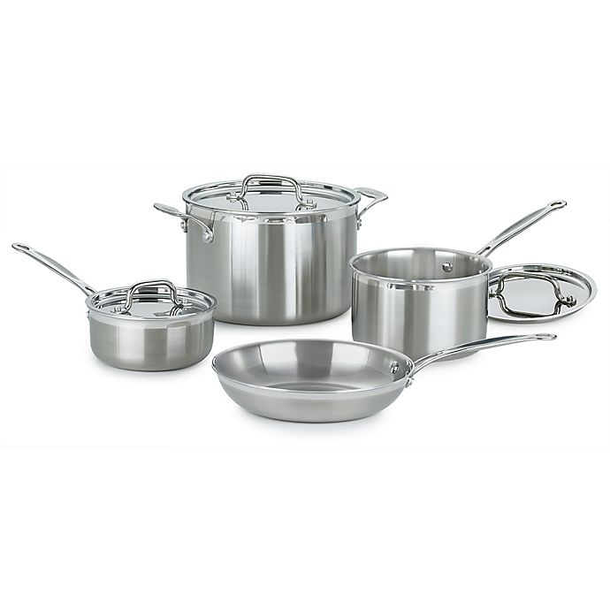 Alternate image 1 for Cuisinart® 7-Piece Multi-Clad Pro Stainless Steel Cookware Set