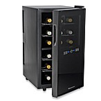 Wine Enthusiast® Silent Touchscreen 18-Bottle Dual-Zone Wine Cooler