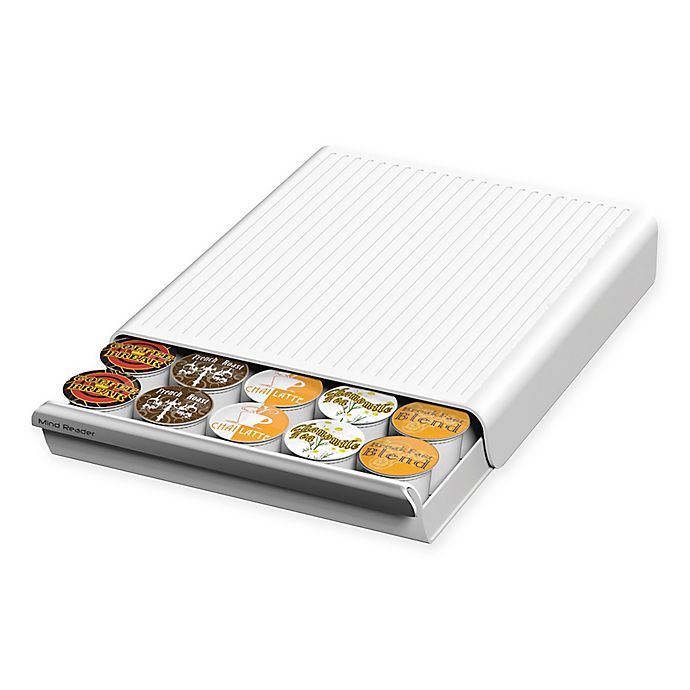 Alternate image 1 for Mind Reader Coupe 30-Pod Coffee Drawer in White