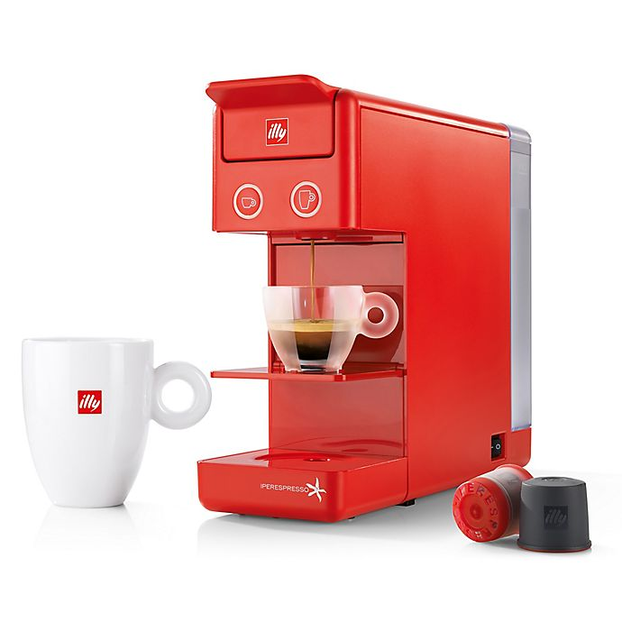 Alternate image 1 for illy® Y3.2 Espresso/Coffee Machine in Red