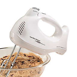 Hamilton Beach® 6-Speed Hand Mixer in White with Clear Case
