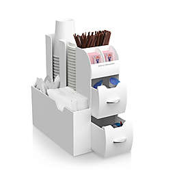 Mind Reader Coffee Condiment Organizer in White