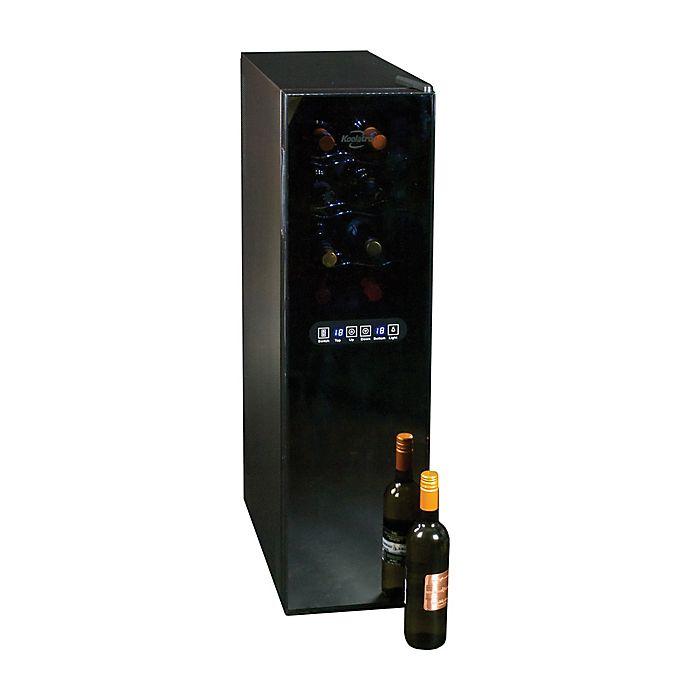 Alternate image 1 for Koolatron™ 18-Bottle Urban Series Dual Zone Wine Cellar in Black