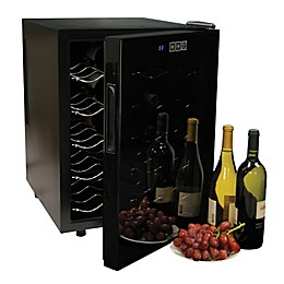 Koolatron™ 20-Bottle Wine Cellar in Black with Mirrored Glass Door