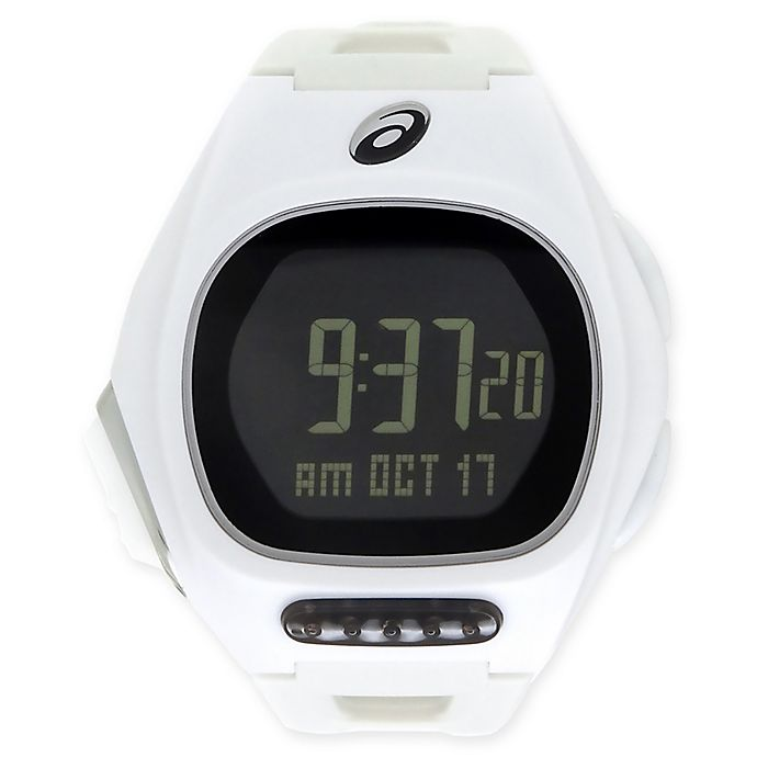 Alternate image 1 for Asics® AR10 Ultra Thin Running Watch in White