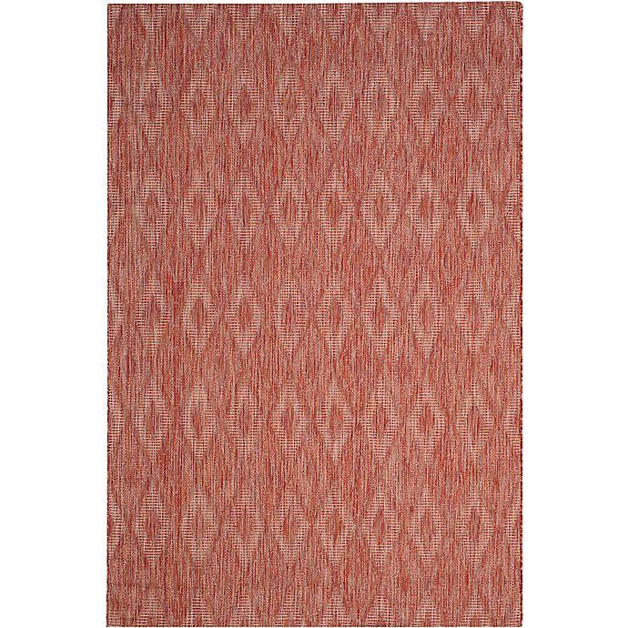 Alternate image 1 for Safavieh Courtyard 6-Foot 7-Inch x 9-Foot 6-Inch Indoor/Outdoor Area Rug in Red