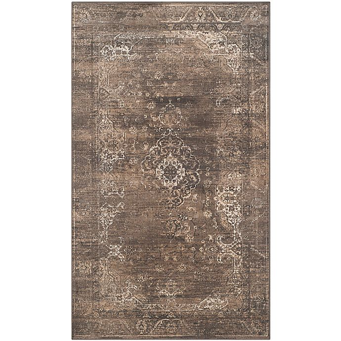 Alternate image 1 for Safavieh Vintage Cassandra 3-Foot 3-Inch x 5-Foot 7-Inch Area Rug in Soft Anthracite
