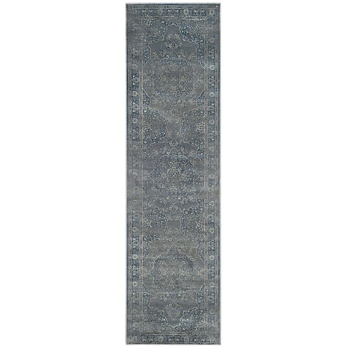 Alternate image 1 for Safavieh Vintage Eloquence 2-Foot 2-Inch x 8-Foot Running in Blue/Grey