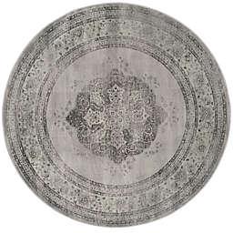 Safavieh Vintage Eloquence 6-Foot Round Area Rug in Grey