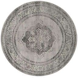 Safavieh Vintage Eloquence 8-Foot Round Area Rug in Grey