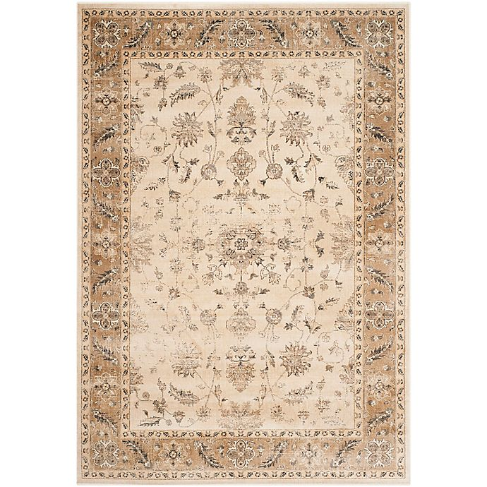 Alternate image 1 for Safavieh Vintage Charlotte 4-Foot x 5-Foot 7-Inch Area Rug in Stone/Caramel