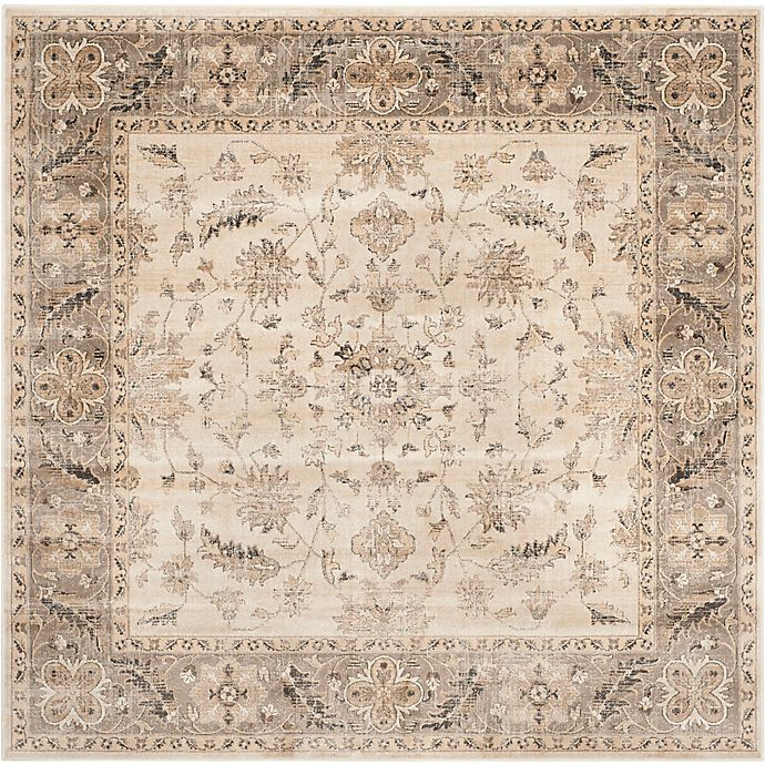 Alternate image 1 for Safavieh Vintage Charlotte 6-Foot Square Area Rug in Stone/Mouse