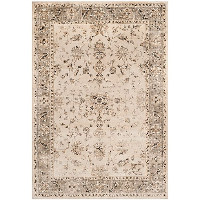 Alternate image 1 for Safavieh Vintage Charlotte 6-Foot 7-Inch x 9-Foot 2-Inch Area Rug in Stone/Mouse