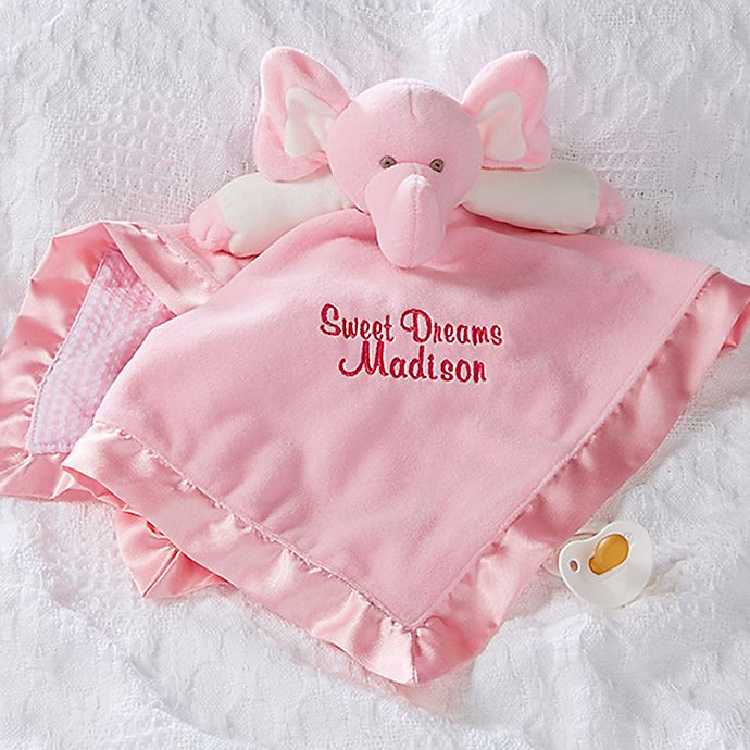 Alternate image 1 for Elephant Baby Blankie in Pink